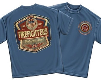 Firefighter United We Stand Denim Fade T-Shirt SKU: FF2099