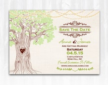 String Lights Tree Save The Date Magnet or Card DIY PRINTABLE Digital File or Print (extra) Spring Save The Date String Lights Save The Date