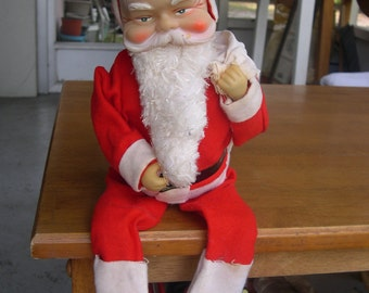 SALE --- a Santa Claus Doll for Mantel or Ledge  1960's