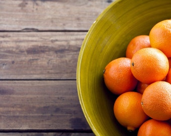 Kitchen and Food Photography 16 x 24 Print - Little Cuties Oranges