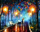 "Misty Mood — PALETTE KNIFE Landscape Modern Art Oil Painting On Canvas By Leonid Afremov - Size: 40"" x 24"" (100 cm x 60 cm)"
