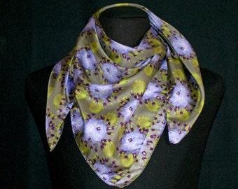 100% natural Silk twill scarf. Digital Print.