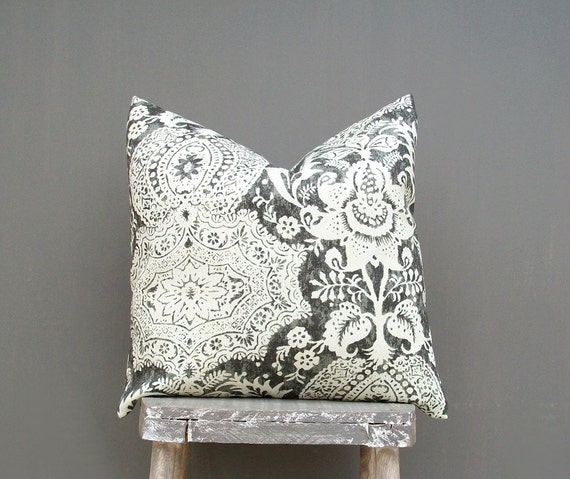 Lace Throw Pillow Covers : Ivory and Black Lace Pillow Cover Decorative Throw Pillow