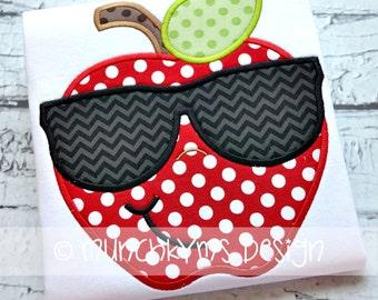 Mister Cool Apple Applique