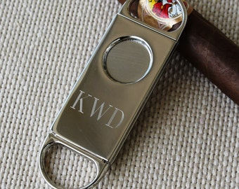 Engraved Cigar Cutter, Personalized Cigar Cutter, Groomsmen Gift, Groomsman Gift, Best Man Gift, Father's Day Gift, Gifts for Groomsmen
