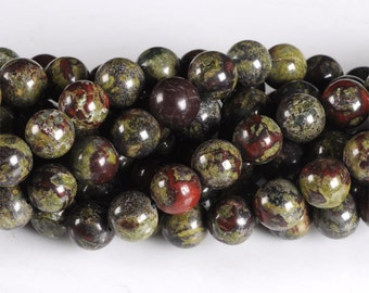 0145 10mm Dragon blood jasper round loose gemstone beads 16""