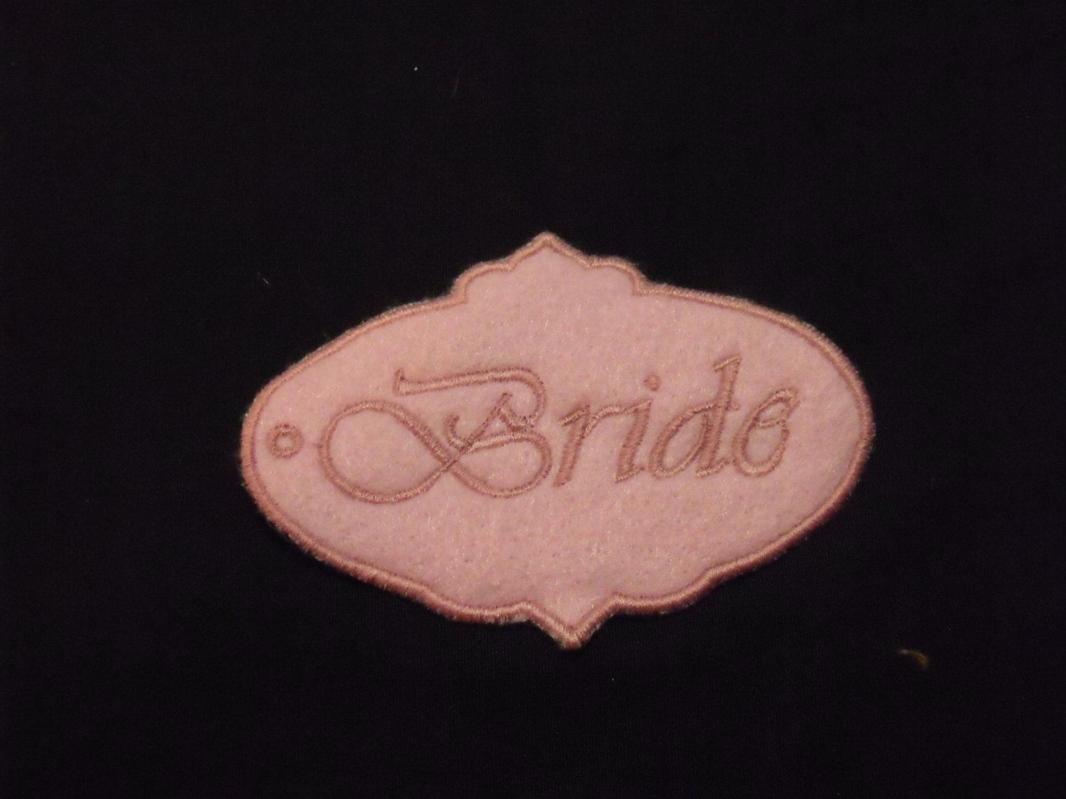 Bride and groom tags embroidered bride and groom name tags gallery photo gallery photo gallery photo sciox Images