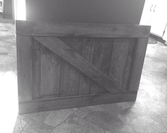 Custom made baby gate- barn door style