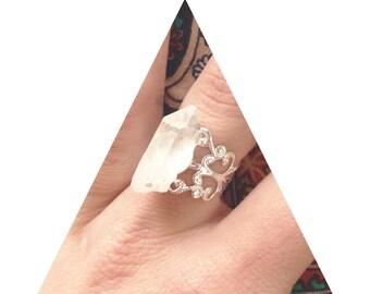 Crystal Quartz Fairytale Ring