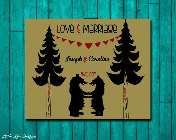 Wedding Gifts For Couples Who Have Been Married Before : Love and Marriage. Custom Wedding Gift. Personalized Wedding Gift ...