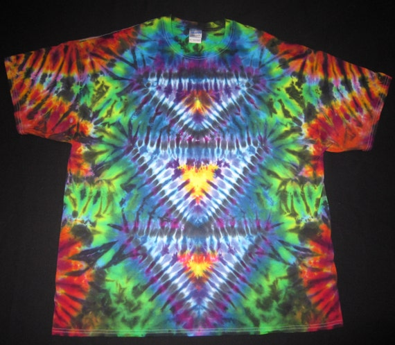 psychedelic stax tie dye t shirt fits s size 2xl or