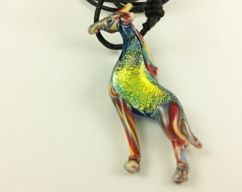 Giraffe - Glass Pendant Necklace