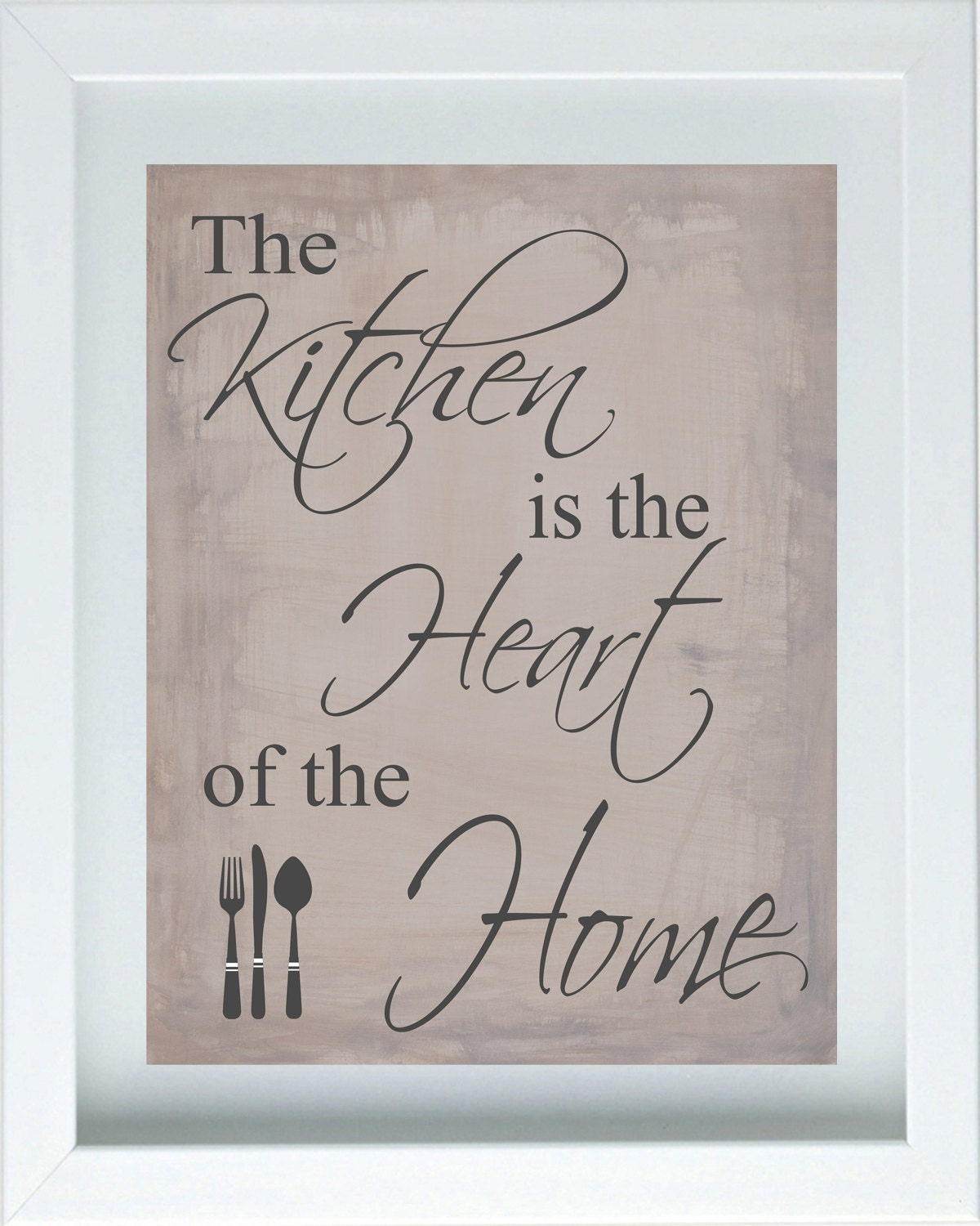 Kitchen Inspirational Quotes: Calligraphy Wall Art Inspirational Quote Kitchen By