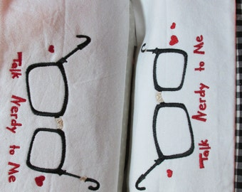 Talk Nerdy to Me Embroidered Pillowcases