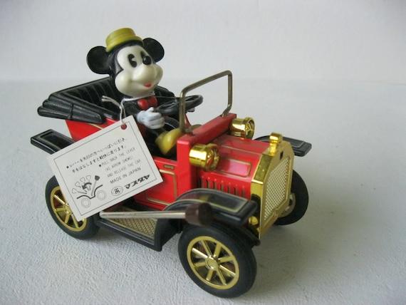 vintage 1981 mickey mouse toy car walt disney productions. Black Bedroom Furniture Sets. Home Design Ideas