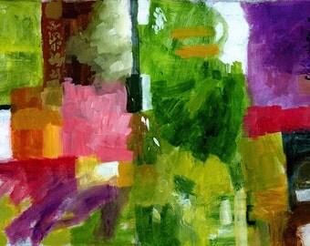 Good Company, Abstract, Original Acrylic Painting on Canvas