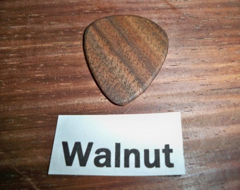 Walnut Guitar Pick
