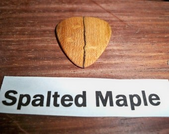 Spalted Maple wood Guitar Pick