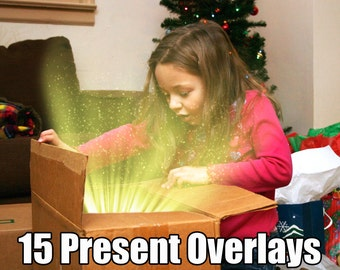 Photoshop Overlay Effects Birthday and Christmas Present