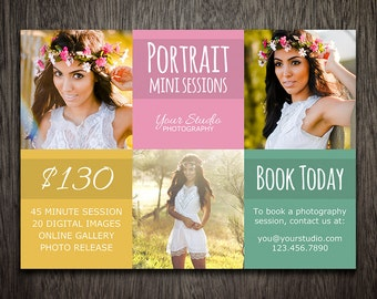 Photography Marketing Board Template - Mini Session Template Flyer Postcard Photoshop PSD MT021
