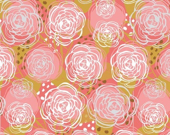 Harmony Floral in Pink by Jessica Swift from the Harmony collection for Blend