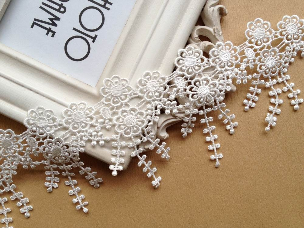 Chic White Lace Trim Bridal Lace Trim White French Flower