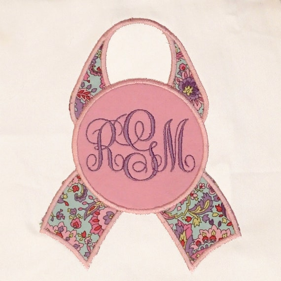 Pink Breast Cancer Awareness Ribbon With Blank Circle For