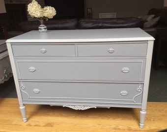 Antique Grey Dresser- available for custom order