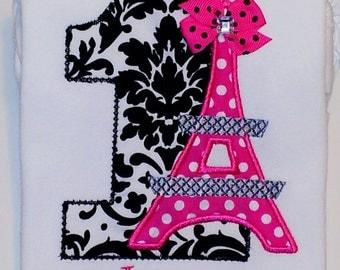 Personalized Eiffel Tower Birthday Shirt - Paris Birthday Shirt
