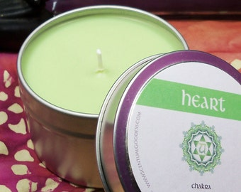 HEART CHAKRA CANDLE - 4th Green Chakra - Open Your Heart Center, Give & Receive More Love - Helps with Regret Grief Relationships Self Love