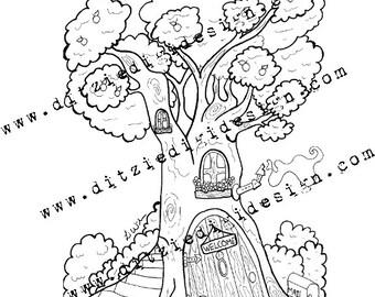 Tree House by Li Wilmore - Digital Download