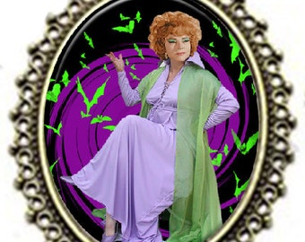 "Vintage style BEWITCHED ""Endora"" Witch Pendant Necklace"