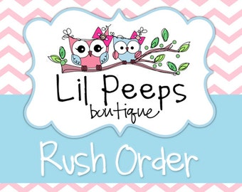BIB / BURP RUSH- Rush Order fee for Bib, Bib Set, Burp Cloth Set, Bib & Burp Set
