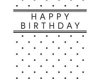 Darice® Embossing Folder - Happy Birthday - Vertical - 4.25 x 5.75, scrapbooking, card making, greeting cards, invitations and more