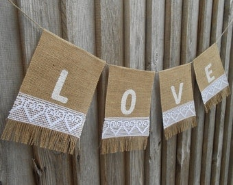 Love Wedding Banner Love Banner Love Bunting Valentines Day Decor Bridal Shower Banner Wedding Banner Wedding Decoration Wedding Garland