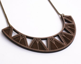 Chrysler Wood Statement Necklace