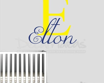 Baby name Decal, Childrens Name Decal, monogram name decal, Alphabet wall Decal, Custom Nursery Wall Decal, Personalized Name Decal