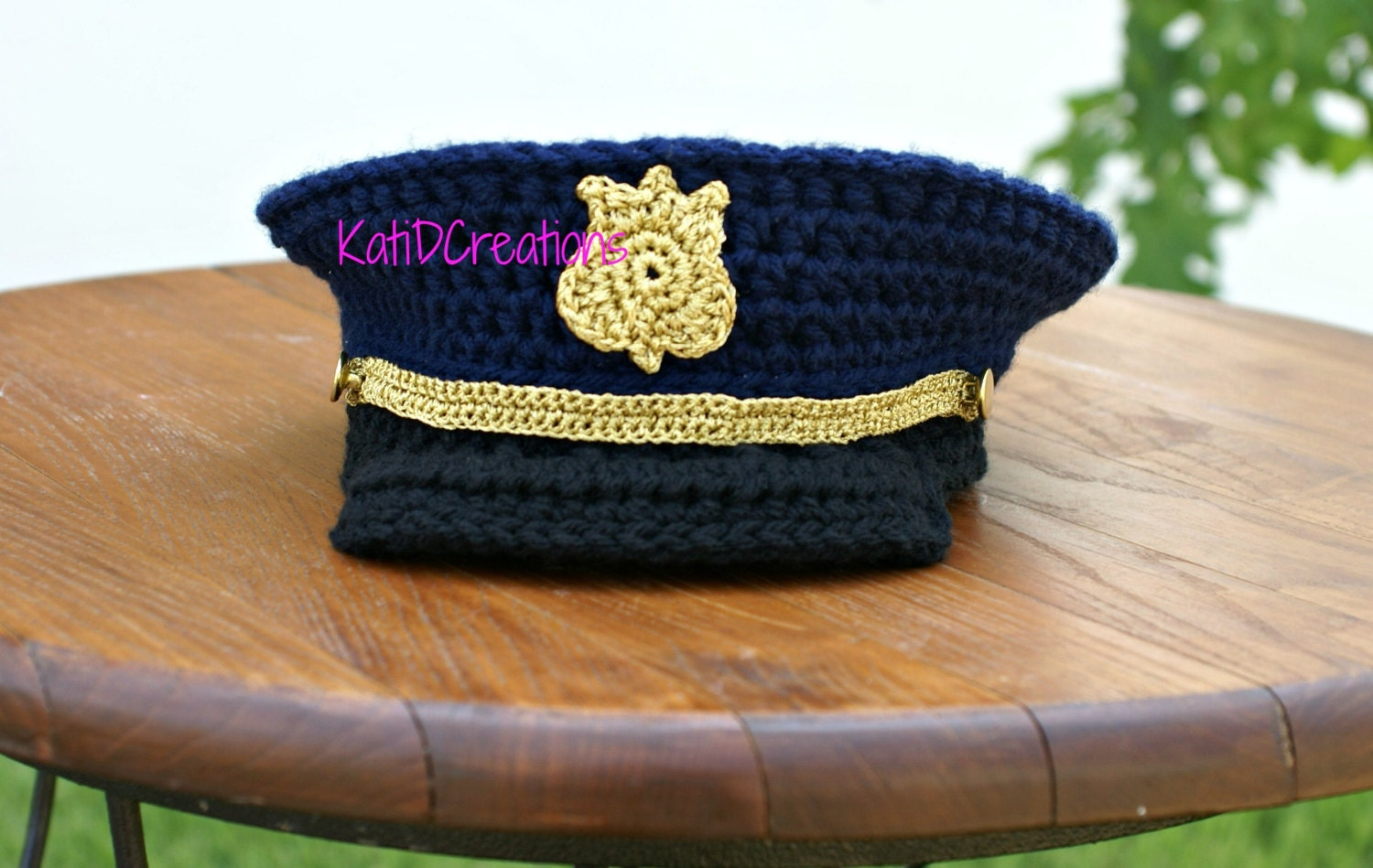 FREE Pattern 6-12months Military Hat Military Dress Hat