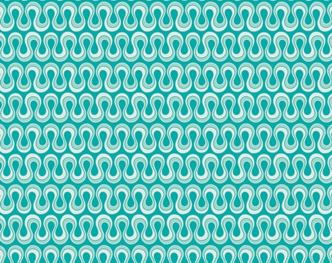 Fat Quarter Drift - Blooming Algae in Emerald Green - Cotton Quilt Fabric - from Angela Walters for Art Gallery Fabrics (W1692)