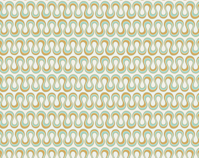 Fat Quarter Drift - Blooming Algae in Gold - Cotton Quilt Fabric - from Angela Walters for Art Gallery Fabrics (W1702)