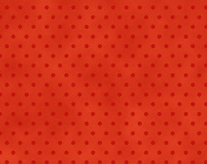 One Yard More Elf on the Shelf - Dot Blender in Red - Cotton Quilt Fabric - from Quilting Treasures (W1983)