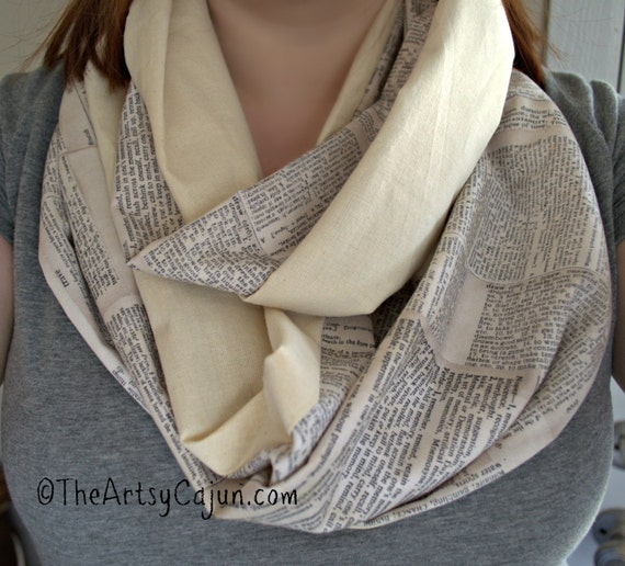 Monogrammable Dictionary Infinity Scarf, Only store to offer these!