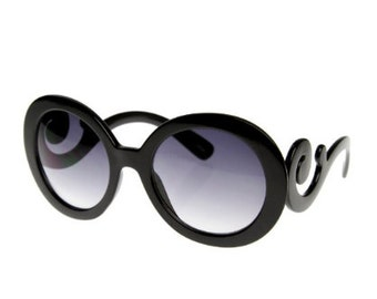 Baroque Black Sunglasses