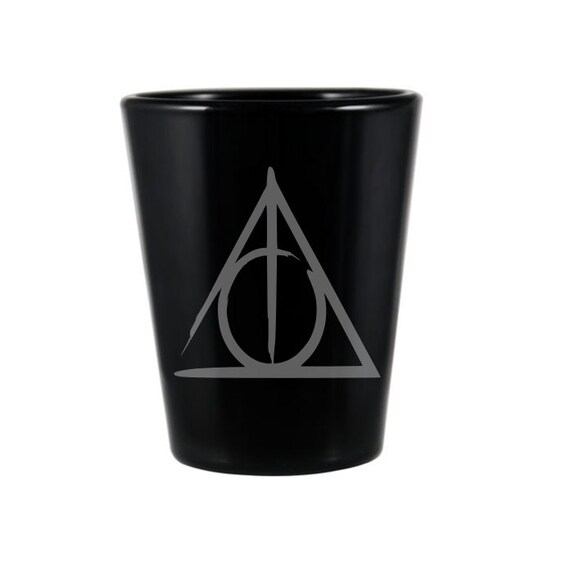 Deathly Hallows Black Shot Glass Harry Potter Inspired Shot