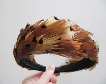 Hand Made One of a Kind Artisan Feather Headband