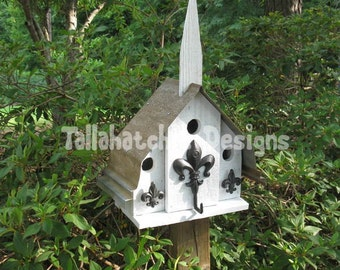 Birdhouse-Rustic Birdhouse-Primitive Birdhouse-Mission Birdhouse-Church Birdhouse-Rusty Roof Birdhouse-Metal Roof Birdhouse