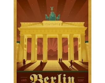Berlin Germany Brandenburg Gate Wall Decal #42250