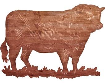 Bull Farm Animal Wall Decal Brown #44262
