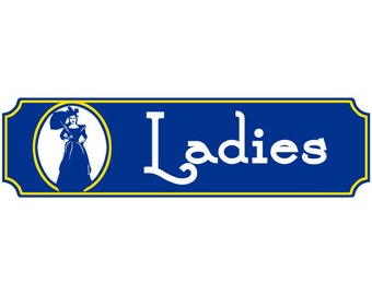 Ladies Rest Room Fancy Wall Decal #45861