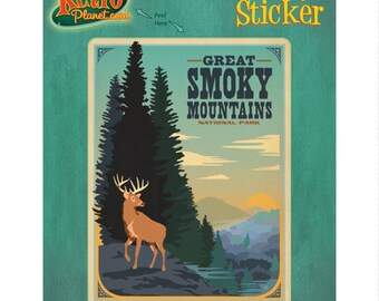 Great Smoky Mtns Park Tennessee Vinyl Sticker - #47951